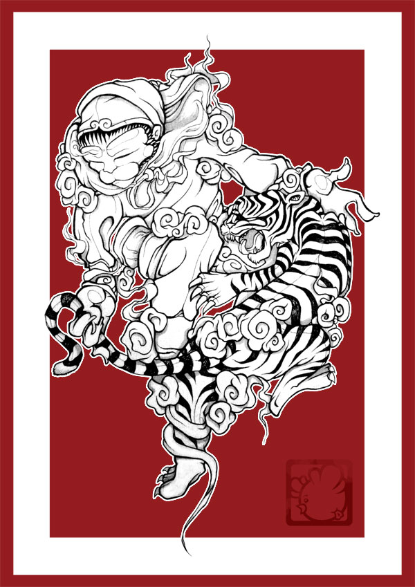 The Monkey-King & Tiger one is gonna be done on a whole back.